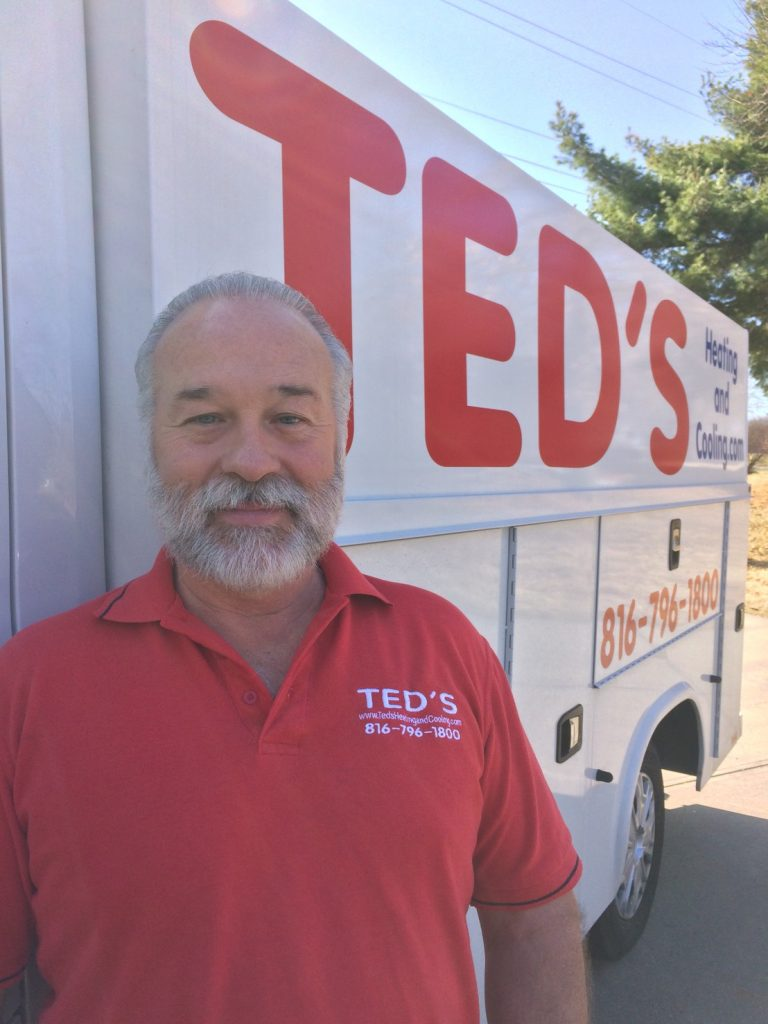 Ted's Heating and Cooling, HVAC Contractor and AC Repair Service in Independence, Missouri. Ted with his van again.
