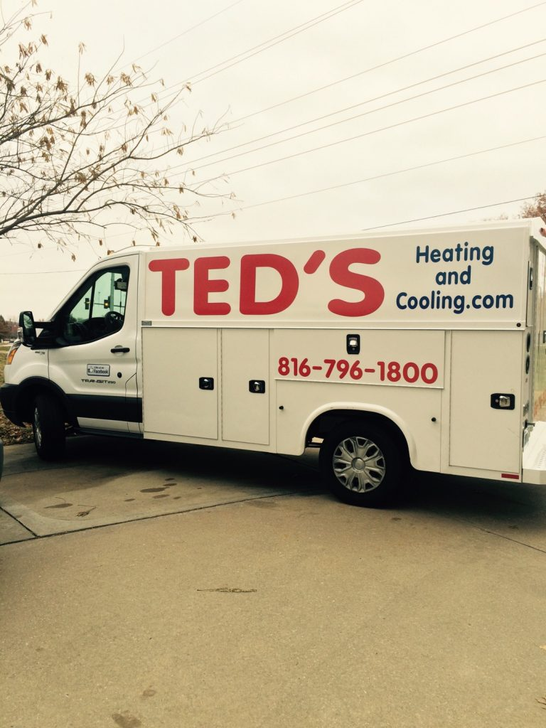 Ted's Heating and Cooling, HVAC Contractor and AC Repair Service in Independence, Missouri.  van2