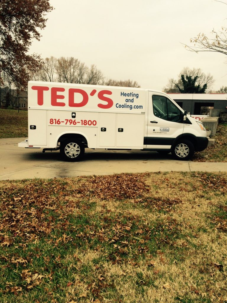 Ted's Heating and Cooling, HVAC Contractor and AC Repair Service in Independence, Missouri.  van1