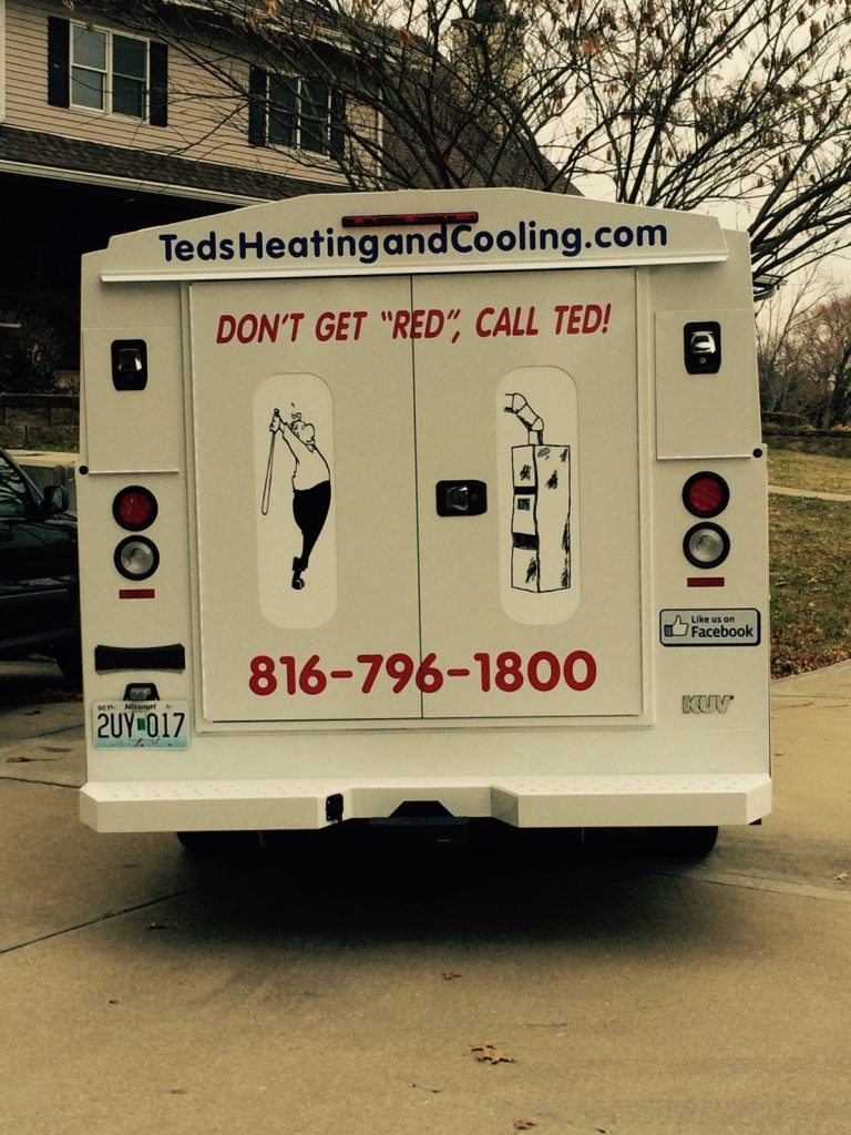 Ted's Heating and Cooling, HVAC Contractor and AC Repair Service in Independence, Missouri.  van3